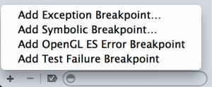 ExceptionBreakpoint